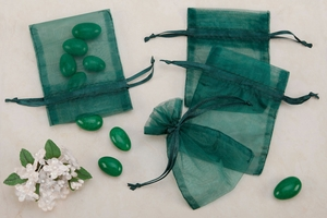 Green Sheer Organza Party favor Bags (Pack of 10)