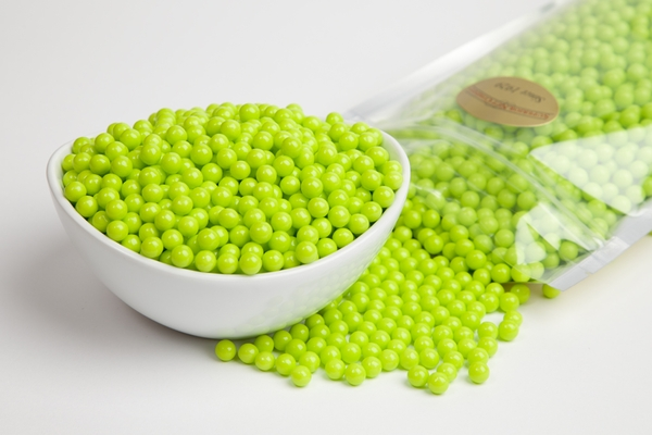 Green Sugar Candy Beads (1 Pound Bag)