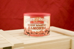 Honey Roasted Almonds, 9oz Canisters (Pack of 3)
