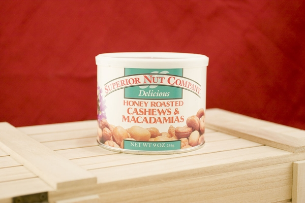 Honey Roasted Cashew & Macadamias, 9oz Canisters (Pack of 3)