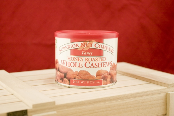 Honey Roasted Cashews, 8oz Canisters (Pack of 3)