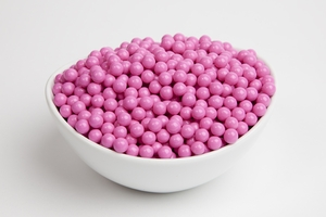 Hot Pink Sugar Candy Beads (5 Pound Bag)