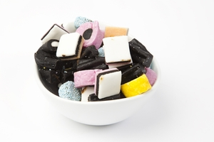 Licorice Allsorts Candy (10 Pound Case)