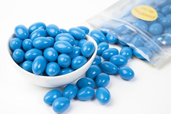 Midnight Blue Chocolate Jordan Almonds (1 Pound Bag)