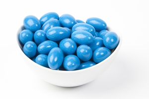 Midnight Blue Chocolate Jordan Almonds (10 Pound Case)