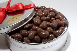 Milk Chocolate Covered Cashews Gift Tin