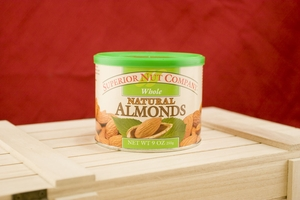 Natural Almonds, 9oz Canisters (Pack of 3)
