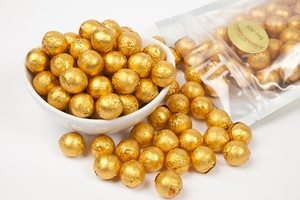 Orange Foiled Milk Chocolate Balls (1 Pound Bag)