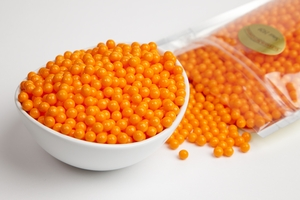 Orange Sugar candy Beads (1 Pound Bag)