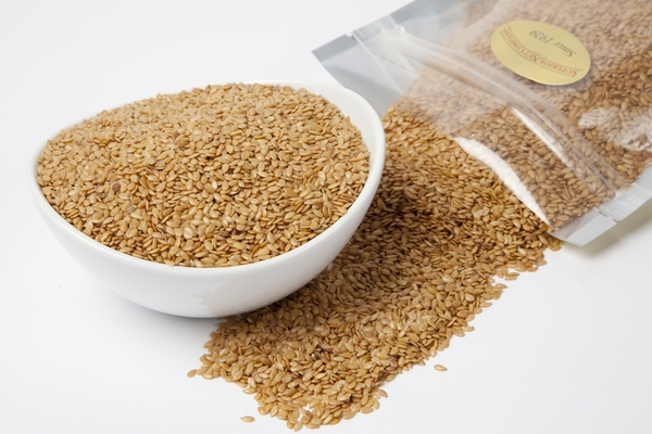 Organic Golden Flax Seeds (4 Pound Bag)