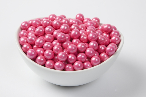 Pearl Bright Pink Sixlets (4 Pound Bag)