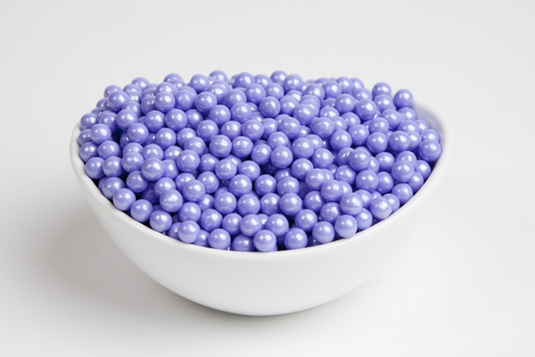 Pearl Lavender Sugar Candy Beads (5 Pound Bag)