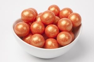 Pearl Orange Gumballs (14 Pound Case)
