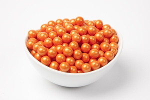 Pearl Orange Sixlets (4 Pound Bag)