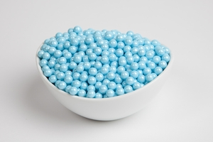 Pearl Powder Blue Sugar Candy Beads (5 Pound Bag)
