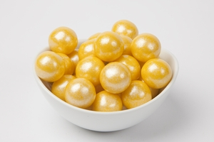 Pearl Yellow Gumballs (4 Pound Bag)