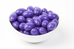 Purple Chocolate Jordan Almonds (10 Pound Case)