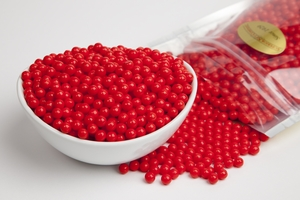Red Sugar Candy Beads (1 Pound Bag)