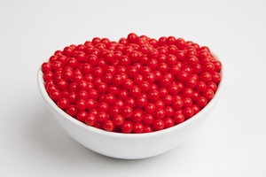 Red Sugar Candy Beads (5 Pound Bag)