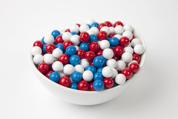 Red, White and Blue Sixlets (4 Pound Bag)