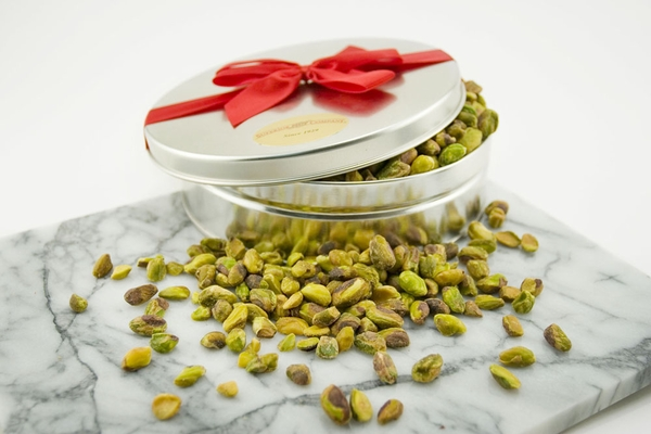 Roasted and Salted California Pistachio Meats Gift Tin