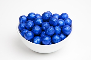 Royal Blue Foiled Milk Chocolate Balls (5 Pound Bag)