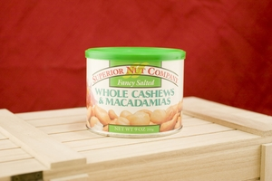 Salted Cashew & Macadamias Halves, 8oz Canisters (Pack of 3)