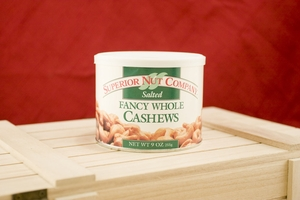 Salted Whole Cashews, 9oz Canisters (Pack of 3)