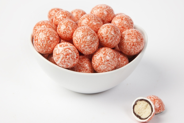 Strawberry and Cream Malted Milk Balls (10 Pound Case)