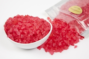 Strawberry Rock Candy Crystals (1 Pound Bag)