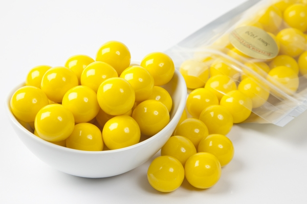 Yellow Gourmet Gumballs (1 Pound Bag)