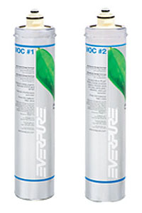 EV9601-76 / Everpure VOC-1 & VOC-2 Water Filter Cartridge Set  # EV960176
