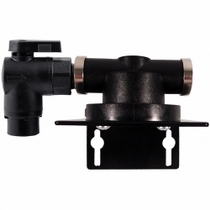 "HF1S / Homeland Single Filter Head with 3/8"" FPT Elbow Valve Inlet"