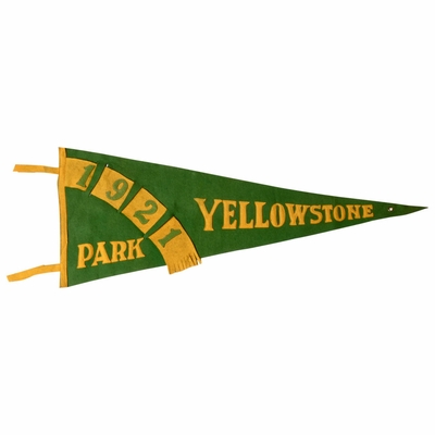 1921 Yellowstone National Park Flag or Felt Pennant, Rare
