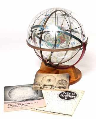1958 Farquhar Celestial Navigation Globe with Documents