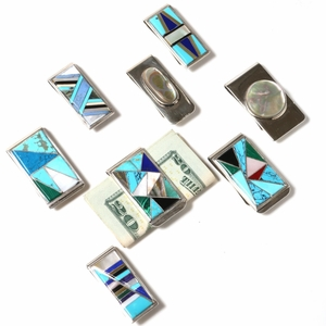 Assorted 1970's Silver Money Clips