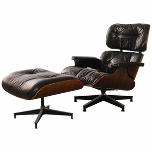 Eames Rosewood Lounge Chair and Ottoman, Historically Important Venice CA 1960s
