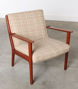 Upholstered Mid-Century Side Chair