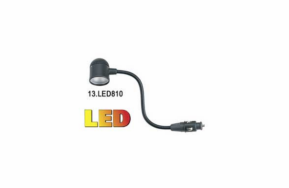 "Able2 Sho-Me 12.5"" LED Map Light - Portable Mount - 13.LED810RED - Red LEDs"
