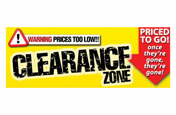 September Clearance Items