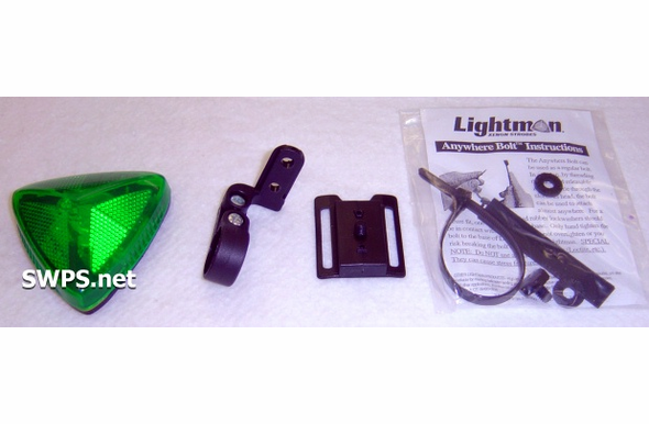 Lightman Basic Bike Strobe Kit Green 90400