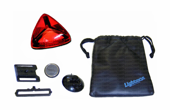 Lightman Wide-Angle LED Safety Kit - Red 722200