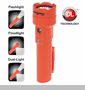 NightStick Dual-Light LED Flashlight w/ Dual Magnets - Rechargeable - Orange - NSR-2522RM