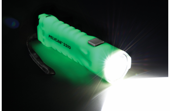 Pelican 3310PL LED Photoluminescent 3AA Flashlight - Yellow