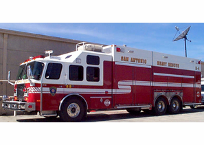 SAN ANTONIO FIRE DEPARTMENT HEAVY RESCUE TRUCK BY E-ONE