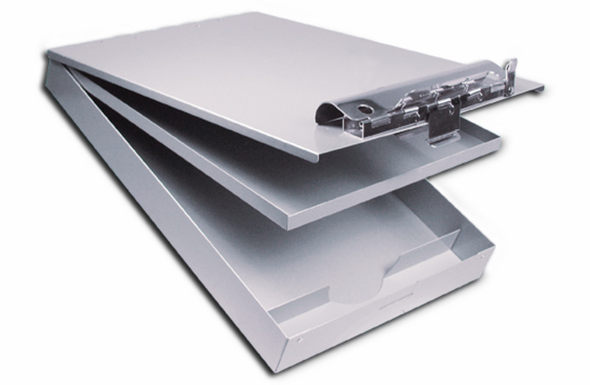 Saunders Cruiser Mate Clipboard with Dual Storage CM8512 - 21017 - Silver