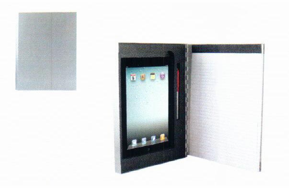 Saunders Padfolio Clipboard for iPad 2 or 3 - Aluminum - Silver - 64557