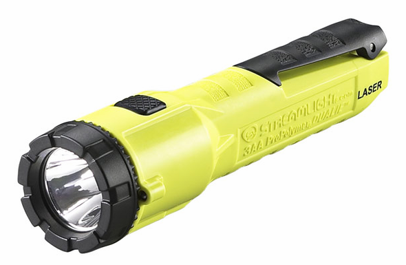 Streamlight 3AA ProPolymer Dualie Laser HAZ-LO C4 LED Flashlight - Yellow - 68760