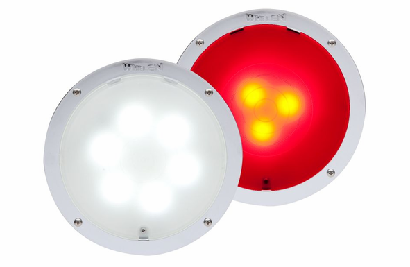 Whelen 9 Diode Super-LED Interior Light 6 White 3 Red 80CREHCR