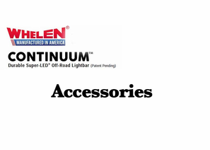 Whelen Continuum Super-LED Off-Road Lights - Accessories